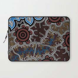 Water Lilly Dreaming - Authentic Aboriginal Art Laptop Sleeve