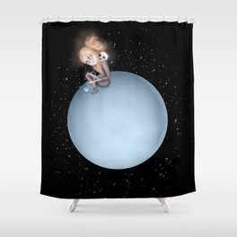 Lost in a Space / Uranusia Shower Curtain