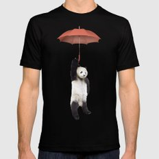 Pandachute SMALL Mens Fitted Tee Black