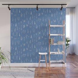 Wildflowers blue Wall Mural