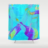 fringe Shower Curtains featuring Fringe Benefits by Neelie