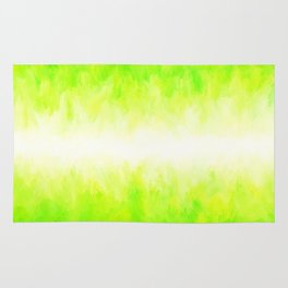 Neon Lemon Lime Abstract Rug