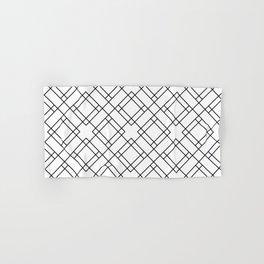 Simply Mod Diamond Black and White Hand & Bath Towel