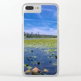 Forest lake in the city Clear iPhone Case