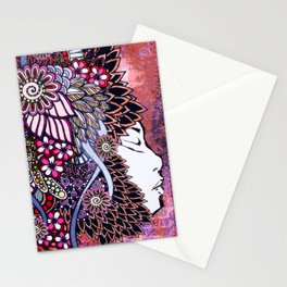 Mother Nature Pink Purple Orange Stationery Cards