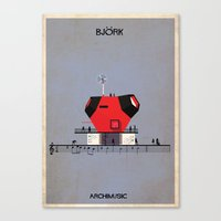 bjork Canvas Prints featuring Bjork by federico babina