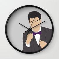 darren criss Wall Clocks featuring Darren Criss H2$ by Jessica