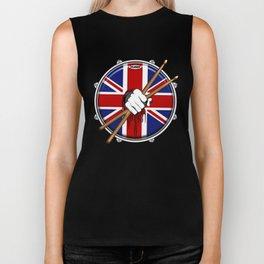 Brit Fist Drummer Biker Tank