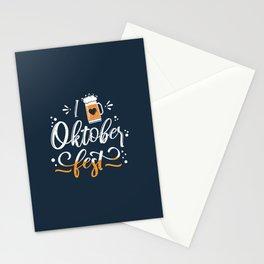 German Festival Season Typography Stationery Cards