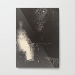 Below, I saw the vaporous contours of a human form by Redon Metal Print