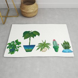 Potted Plant Critters 1 Rug