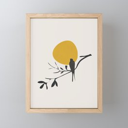 Bird and the Setting Sun Framed Mini Art Print