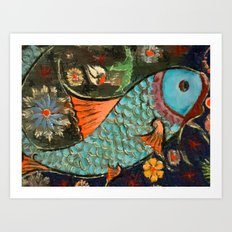 Fish Mosaic Art Print
