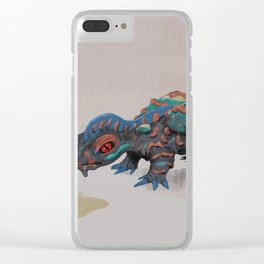 Spilled Beverage Monster Clear iPhone Case