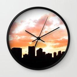 Honolulu Sunset Wall Clock