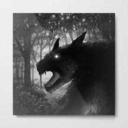 Drawlloween 2015: Werewolf Metal Print