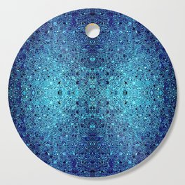 Deep blue glass mosaic Cutting Board