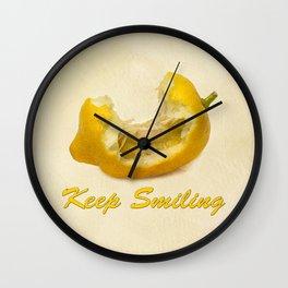 Lemon - Keep Smiling Wall Clock