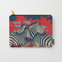 American Zebra Carry-All Pouch