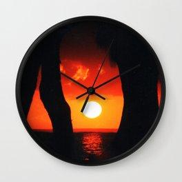 Moorea Sunset Wall Clock
