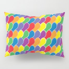Pride Heart Scale Pattern Pillow Sham