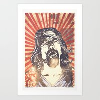 lebowski Art Prints featuring Big Lebowski by Tommy Lennartsson