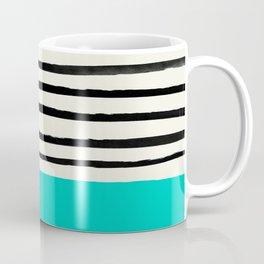 Aqua & Stripes Coffee Mug