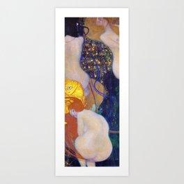 Gustav Klimt - Goldfische - Digital Remastered Edition Art Print