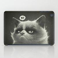 grumpy iPad Cases featuring No! by Dr. Lukas Brezak