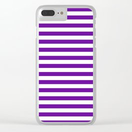 Halloween Two color stripes Violet and White Clear iPhone Case