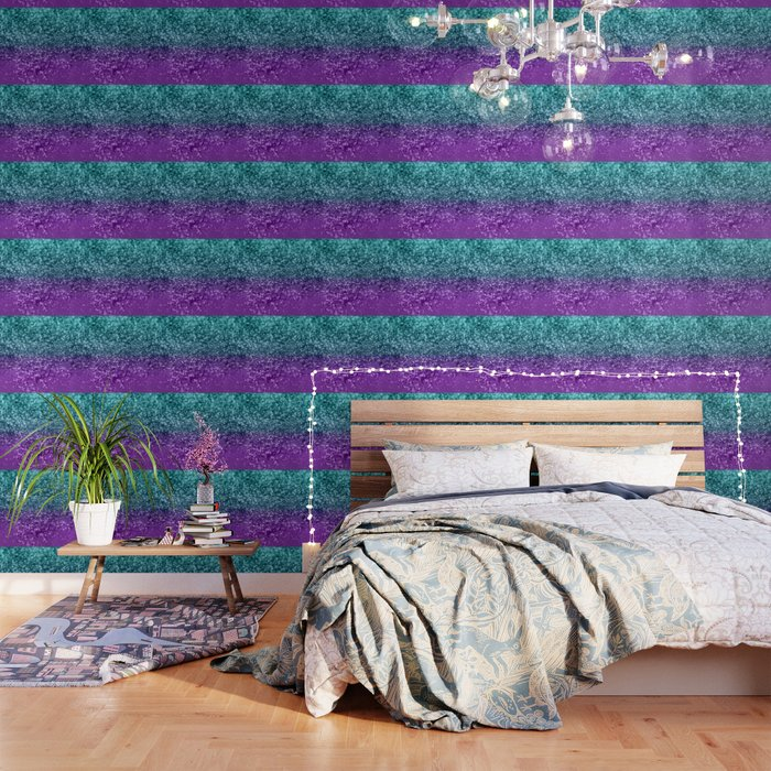Purple Teal MERMAID Girls Glitter #1 #shiny #decor #art #society6 Wallpaper  by anitabellajantzart