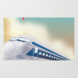 Shinagawa Japan travel poster Rug