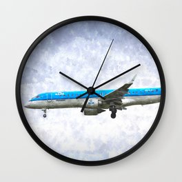 KlM Embraer 190 Art Wall Clock