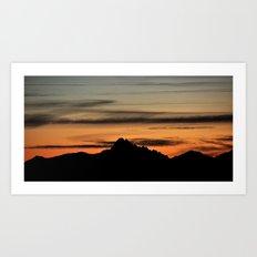Dawn On The Rock Art Print