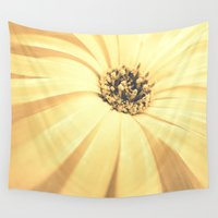 champagne Wall Tapestries featuring Champagne Petals by RichCaspian