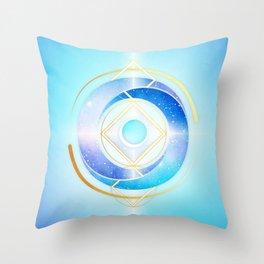 Floating Geometry :: Winter Swirl Throw Pillow
