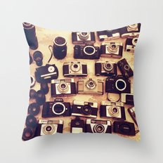 I love analogue photography Throw Pillow
