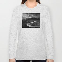 Ansel Adams - The Tetons and Snake River Long Sleeve T-shirt