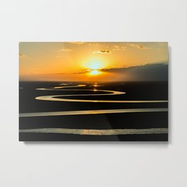 The Congo River Basin at Sunset Photographic Metal Print