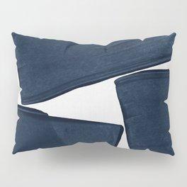 Minimalist Painting Blue III, Mid Century Modern Pillow Sham