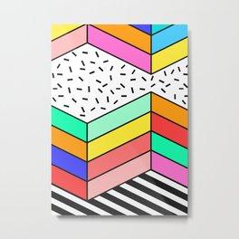 Colorful Pop Window Metal Print