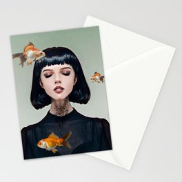 Goldfish Dreaming Stationery Cards
