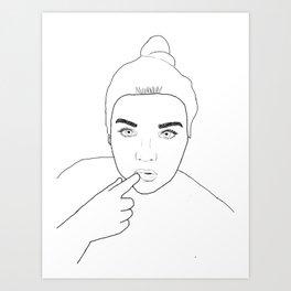 Minimale Gal Art Print