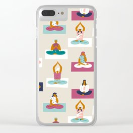 Morning yoga Clear iPhone Case