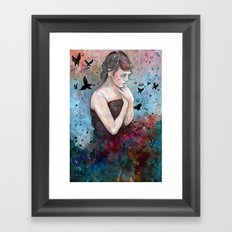 Forgotten painting, watercolor Framed Art Print