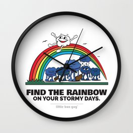 Find the Rainbow on your Stormy Days. Wall Clock