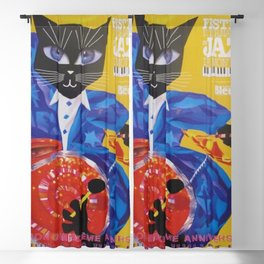 1994 Montreal Jazz Festival Cool Cat Poster No. 3 Gig Advertisement Blackout Curtain