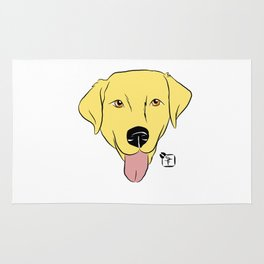 Yellow Lab Face Rug
