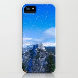 Mountain sky long exposure iPhone Case
