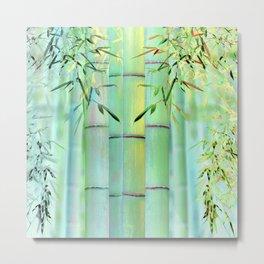 Bleached Bamboo Metal Print